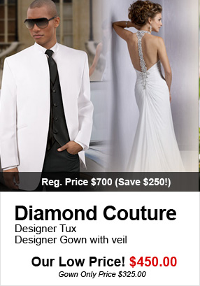 Wedding Gowns and Tuxedo Rental Packages in Las Vegas