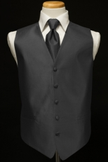 Luxury Herringbone Vest & Tie Set (voer 25 colors available)