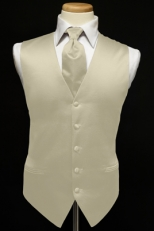 Premiere Solid Satin Vest & Tie Set (over 30 colors available)