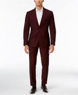 Michael Kors Couture 1910 Burgundy Suit Package (slim fit)