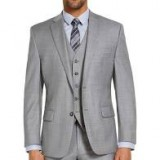 Michael Kors Couture 1910 Heather Grey Suit Package (Slim Fit)
